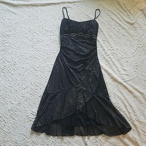 Shimmery Black Spaghetti Strap Dress